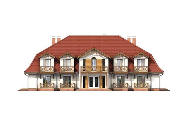 Zobacz powiększenie elewacji frontowej - projekt Budynek wypoczynkowy Ambrowiec