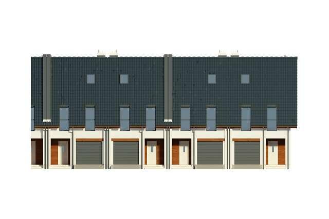 Zobacz powiększenie elewacji frontowej - projekt Milagro