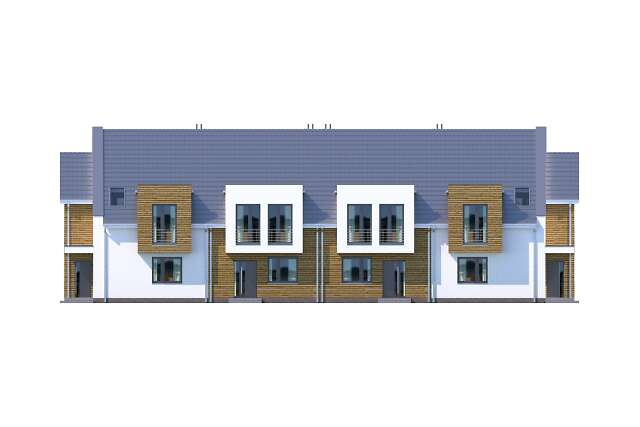 Zobacz powiększenie elewacji frontowej - projekt Zurych II