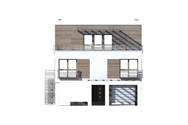 Zobacz powiększenie elewacji frontowej - projekt Santorini