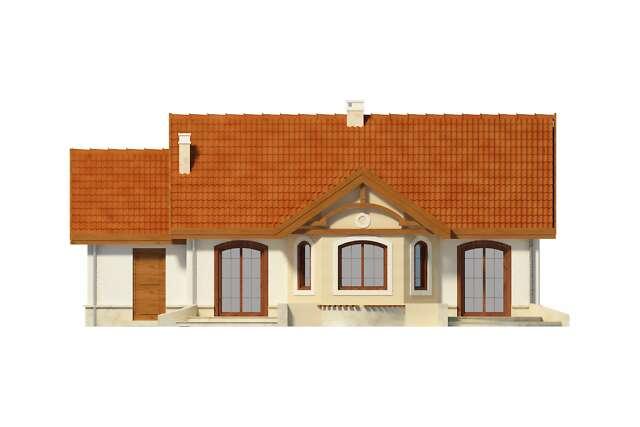 Zobacz powiększenie elewacji ogrodowej - projekt Sofia IV w.drewniana